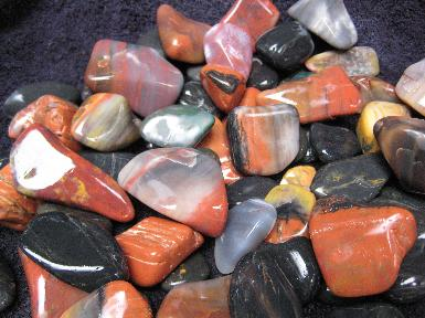 Assorted stones approaching smooth