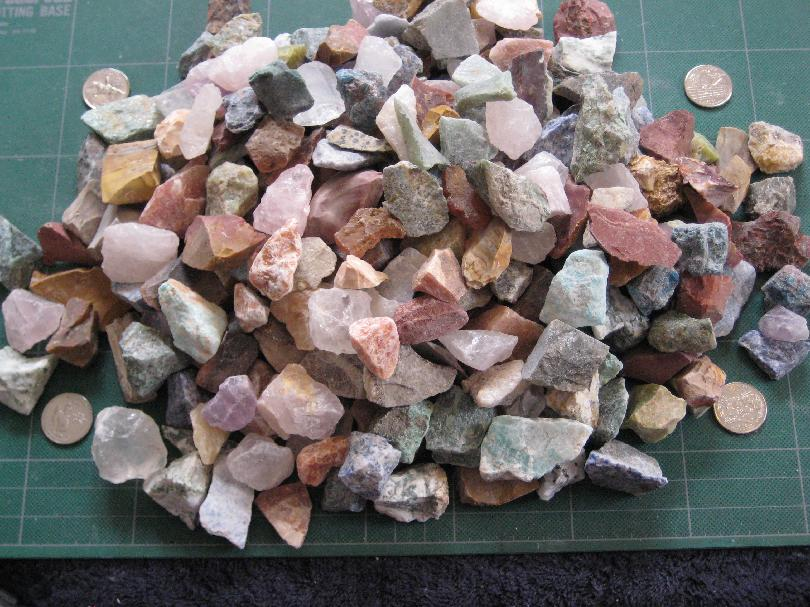 10 pounds mixed rock - 3/4 to 1 1/2 inches