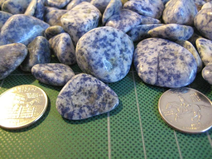 Spotted Blue Sodalite Close Up