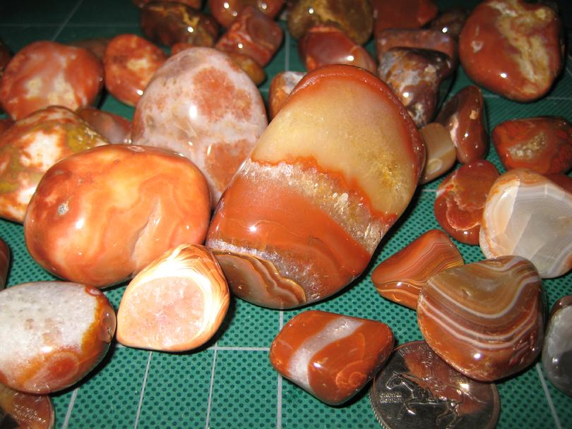 Lake Superior Agates Close Up